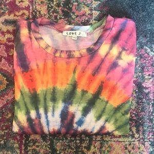 Love J tye dye tee shirt!